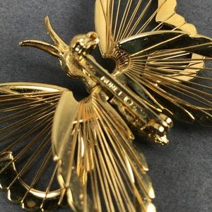 Vintage Jewelry - Vintage gold monet butterfly brooch pin